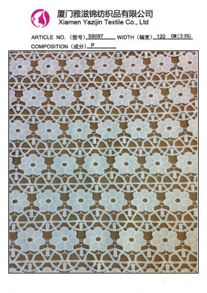 Cheap Chemical Lace Fabric French Embroidered Lace Fabric Good Quality Lace(S8097) for sale