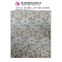 China Chemical Lace Fabric Different Types Of Lace , Heavy Embroidered Lace Fabric(S8091) on sale