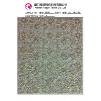 China Chemical Lace Fabric Latest Flower Design Heavy Cord Chemical Lace Fabric (S8067) on sale