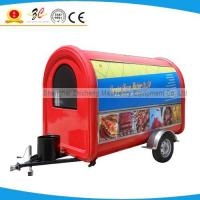 Quality outdoor retail vending street mobile breakfast small stainles steel fast food trailer wholesale