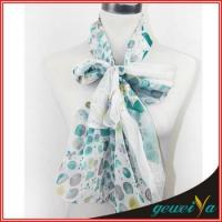 Buy cheap Lady's Printed Chiffon Polka Dot Scarf from wholesalers