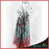 Buy cheap Flower Butterfly Printing Lady Shawl Scarf from wholesalers