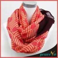 Buy cheap Voile Printed Stripe And Dot Women Scarf from wholesalers