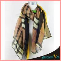 Buy cheap Coffee 110*180cm Stripe Scarf Shawl from wholesalers