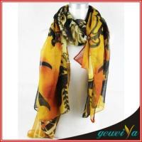 Buy cheap Retro Style Flower Printed Muslim Scarf from wholesalers