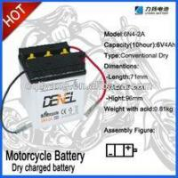 Quality Dry Charged Vented Motorcycle Battery 6N6-1B 6V 6AH wholesale