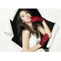 Quality Vary Leather Silk Knit Cuff Women's Leather Gloves With Fashion Short Gloves Style wholesale