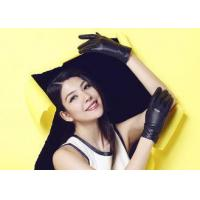 Quality Pleat Veins Cuff Women's Leather Gloves Wholesale / Warm Winter Leather Gloves for Ladies wholesale