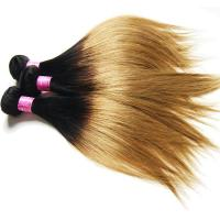 Buy cheap Ombre Malaysian Virgin Hair 100% Human Hair Straight 1B#27 Color from wholesalers