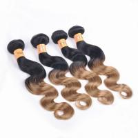 Buy cheap Ombre Hair Extensions B1#27 Body Wave Weaving Hair 100% Human Hair from wholesalers