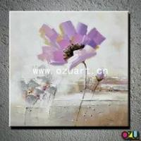 China New Style Abstract Flower Oil Painting of Poppy Flower on sale