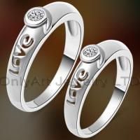 China best valentine jewelry hot sell Chinese couple cz ring with fast delivery on sale