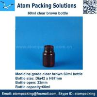 Quality 60ml Clear Brown Medicine bottle for tablet wholesale