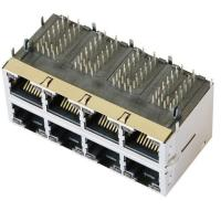 Quality 85586-1004 Stacked 2X4 HyperJack 1000 Base-t PoE Modules wholesale