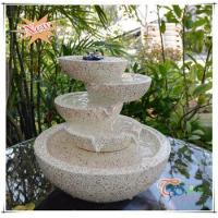 Quality Imitate Marble LED Polyresin Indoor Glossy Tiered Pot Small Fountain wholesale