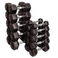 Quality Fitness TV Product name: rubber-coated-dumbell-set wholesale