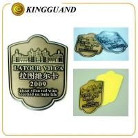 China Custom special shape personalized wine bottle labels on sale