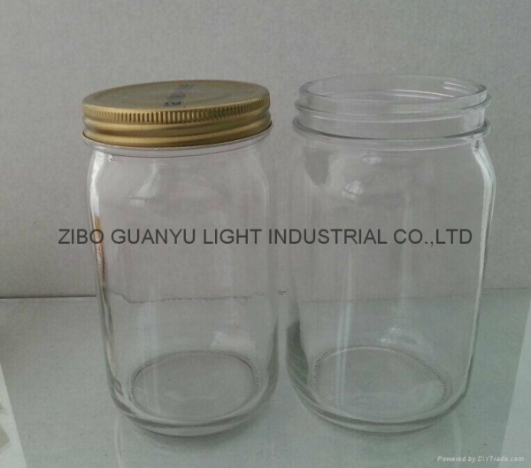 Cheap Glass Jars 32oz Mason Jar With Metal Cap Of