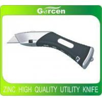 Quality Aluminium heavy duty hobby knife high quality knife with soft rubber handle wholesale