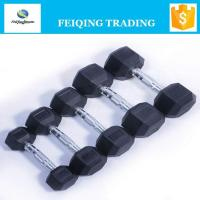 Quality FQ2001 hex rubber coated dumbbell wholesale