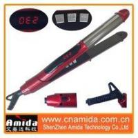 China 2015 new design titanium private label professional 2 in 1 hair curler and hair straightener on sale