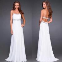 Buy cheap Hot Sell Evening Dresses CSXN099Open Back Long Chiffon Gown Evening Dresses from wholesalers