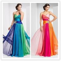 Quality Hot Sell Evening Dresses LTBX2378Vestido De Festa Longo Colorful Long Chiffon Evening Dresses wholesale