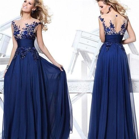 Cheap Hot Sell Evening Dresses CSXN6668Nice Top Royal Blue Party Evening Dresses for sale