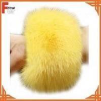 China Top quality real dyed fox fur cuff on sale