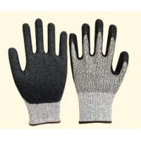 Quality 10 gauge HPPE liner, with latex coating ,crinkle finished, cut resistance glove NO.: XH-CR02 wholesale