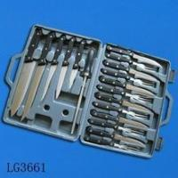 Quality 18pcs knife set with pp handle in plastic case wholesale