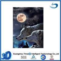 China Wolf 2014 Christmas decorative 3d painting picture of animal wolf on sale