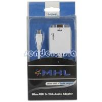 China Micro USB To VGA Audio Adapter MHL Cable Adapter for Sprint Galaxy Nexus on sale