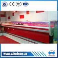 China Commercial refrigerator supermarket top open fresh meat display case refrigerator on sale