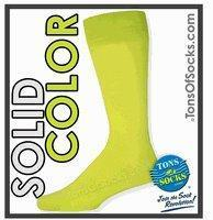 China Men's Vannucci Solid Color Dress Socks (Lime Green) on sale