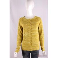 Quality C-019 Crew Neck Womens Structure Knit Cardigan, Spring/Summer Mouline sweater wholesale