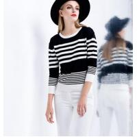 Quality tight stripe short sweater wholesale
