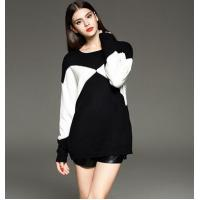 Quality loose pullover knitted sweater for ladies wholesale