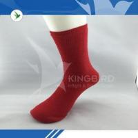 China Red polyester women tube socks for travel on sale