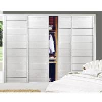 China Wardrobe Sliding Door with white oak and 300 plates damping on sale