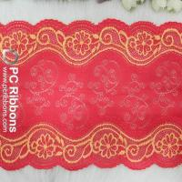 China Ribbon bows&trimmings Good quality red african swiss voile lace for garment on sale