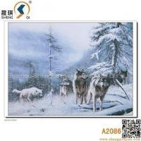 China 3D Animal Lenticulre Pictures of Sowfield Wolfs, A2086 on sale