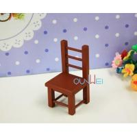 Quality Dollhouse Furniture Toy Mini Chairs Dollhouse Wooden Mini colorful Chair wholesale