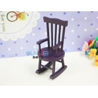 China Dollhouse Miniature Furniture Toy Mini Rocking Chairs Dollhouse Wooden Mini colorful Chair QW60541 on sale
