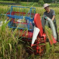Quality Hand push type mini paddy harvester thresher for sale wholesale