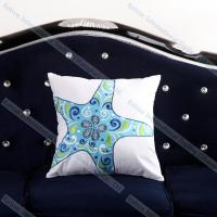 China Embroidered Starfish Cushion Cover Cheap Decorative Throw Pillows for couch on sale