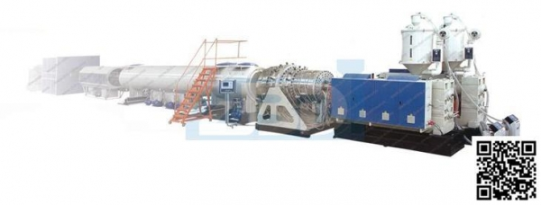 China HDPE water, gas pipe Extrusion Line