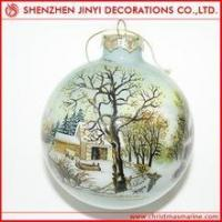 Quality Promotional Purple Decorative Christmas ball wholesale