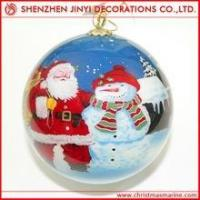 Quality Promotional Acid blue Christmas ball wholesale
