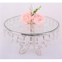 China Customize crystal clear acrylic wedding cake display stand on sale